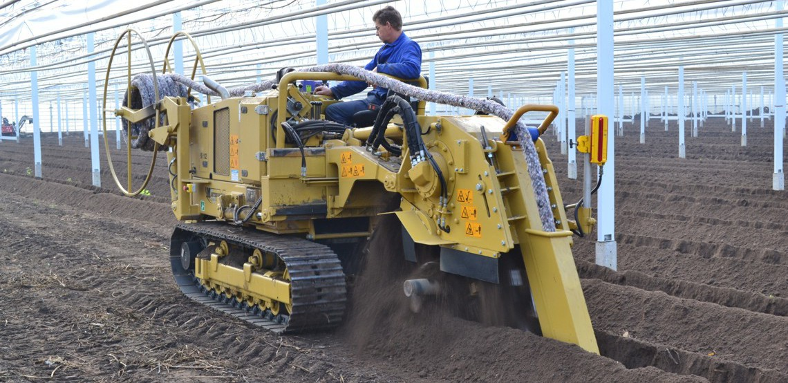 Trenching Machines Working : Offset mastenbroek limited
